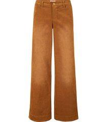 pantaloni di velluto elasticizzato wide (marrone) - john baner jeanswear