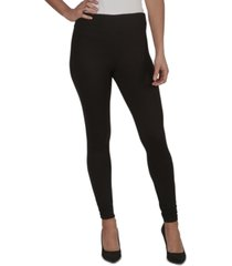 just polly juniors' ruched-ankle rib-knit leggings