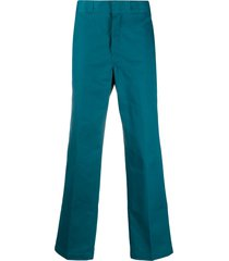 dickies construct high-waisted straight leg work trousers - blue