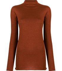 boon the shop funnel neck lightweight sweater - orange