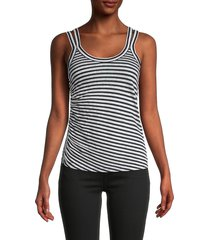 allsaints women's tina striped tank top - chalk ink - size xs