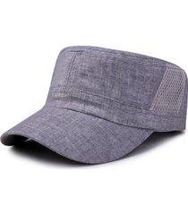 cappello a tesa larga da uomo con visiera piatta regolabile in cotone traspirante