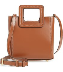 staud mini shirley genuine shearling satchel - brown