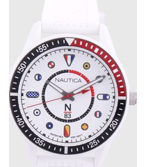 reloj blanco-azul-rojo nautica