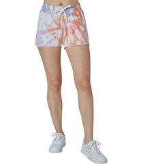 ultra flirt juniors' tie-dye sweat shorts