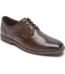 zapatos rockport slayter plaintoe oxford-chocolate