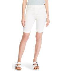 women's nic+zoe all day pull-on denim bermuda shorts, size 0 - white