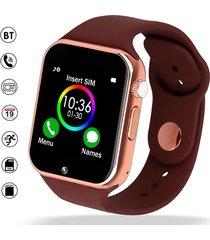 smartwatch reloj inteligente a1 android dorado