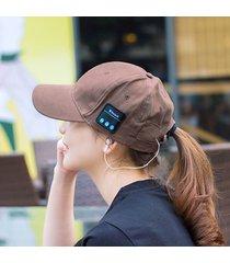 gorra como audifono de bluetooth para unisex e-thinker - cafe