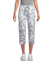 marc new york performance women's tie-dye drawstring pants - overcast grey - size xl