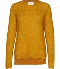 brook knit new o-neck gebreide trui geel second female