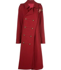 monse twisted military coat - red
