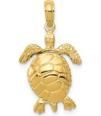 turtle pendant in 14k yellow gold