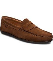 driving loafer sde loafers låga skor brun marstrand