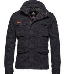 classic rookie military jacket dun jack zwart superdry