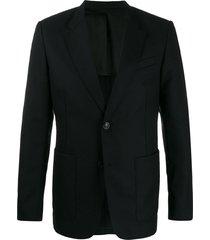 ami paris button front blazer - black