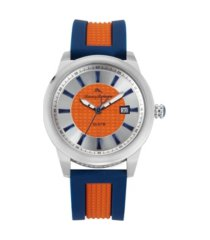 tommy bahama men's gulf shore sport multi silicone strap watch, 44mm
