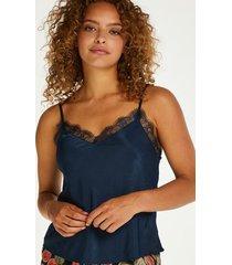 hunkemöller camisole-topp i twill blå