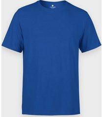 męska koszulka (bez nadruku, gładka) - niebieska
