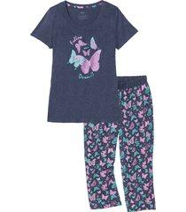 pigiama con pinocchietto (blu) - bpc bonprix collection