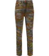 heron preston tie-dye tapered jeans - grey