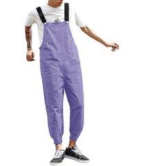 liguero casual con bolsillos grandes para hombre mono overol pantalones