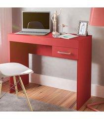 mesa escrivaninha cooler 1 gaveta vermelho - artely