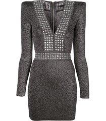 lurex fitted mini dress