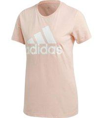 camiseta adidas logo feminina gc6948, cor: rose/branco, tamanho: g - rosa - feminino - dafiti