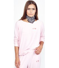 x exclusive x love lip pullover - xs tickle pink