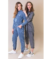 jumpsuit limited denim grey