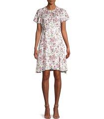 rebecca minkoff women's esmee floral silk dress - rosebud combo - size 12