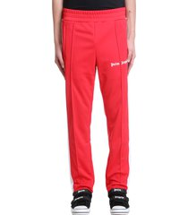 palm angels classic pant pants in red polyester
