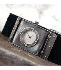 srebrny zegarek 019 - unisex