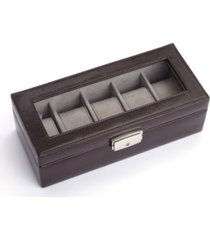 royce new york 5 slot watch display case