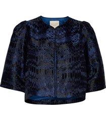 trine jacket blazers bouclé blazers blå lollys laundry