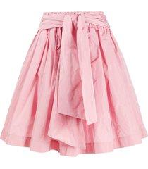 msgm a-line taffeta mini skirt - pink