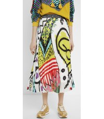 arty pleated midi skirt - material finishes - 44
