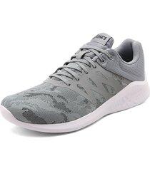 tenis running gris-blanco asics comutora mx