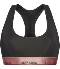 brassieres unlined bralette modern cotton negro calvin klein