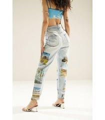 straight unisex jeans south beach - blue - xl