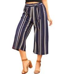 envío gratis pantalon kenia azul-coral  para mujer croydon