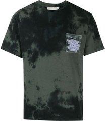 filling pieces tie-dye short sleeve t-shirt - black
