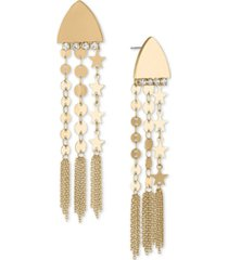 rachel rachel roy gold-tone disc chain drop earrings