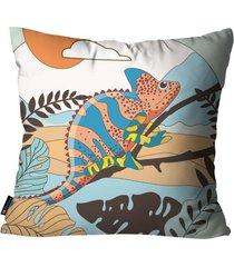 almofada mdecore camaleão colorida 45x45cm