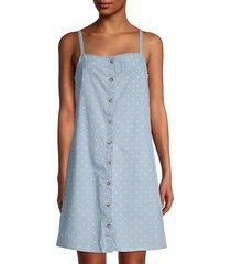 mascha dot-print cotton chambray dress