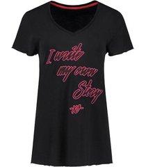 zwart dames shirt nikkie - i write my own story