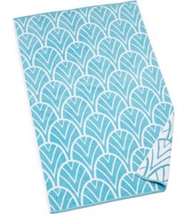 """hotel collection resort decorative palm cotton 40"""" x 70"""" beach towel, created for macy's bedding"""