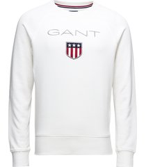gant shield c-neck sweat sweat-shirt trui wit gant