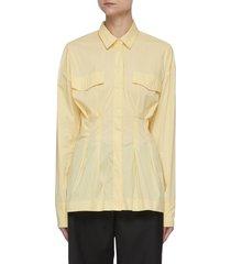 'charlotte' cinched waist shirt